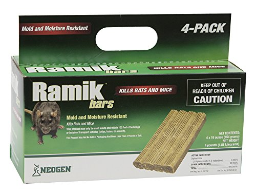 NEOGEN RODENTICIDE Ramik Mouse and Rat Bars Box, 4-Pound