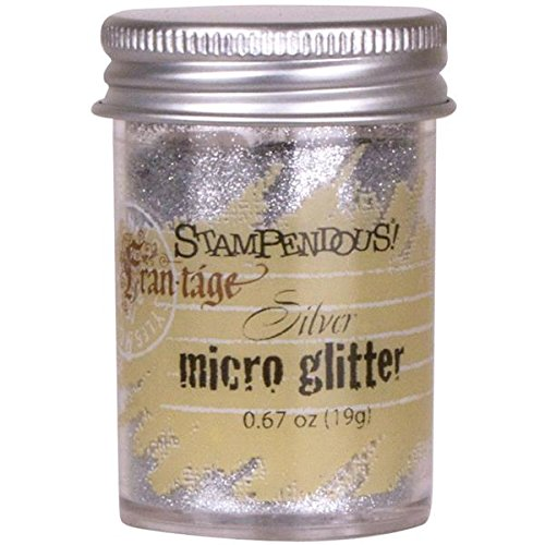Stampendous Frantage Micro Glitter for Arts and Crafts, Silver