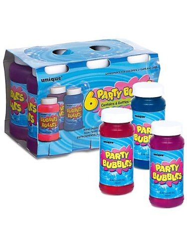 Unique Industries BB102656 Party Bubbles Favor Pack - 6-Pack