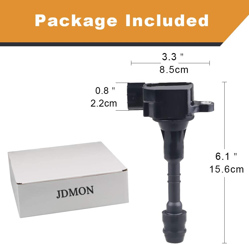 JDMON Ignition Coils Set of 6 Compatible with/Infiniti /&Nissan Altima Frontier Maxima Pathfinder Murano Quest Replaces 222488J115 224488J111 22448-8J11C UF-349 3.5L 4.0L V6