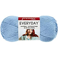 Premier Yarns Solid Deborah Norville Everyday Soft Worsted, Baby Blue (3-Pack)