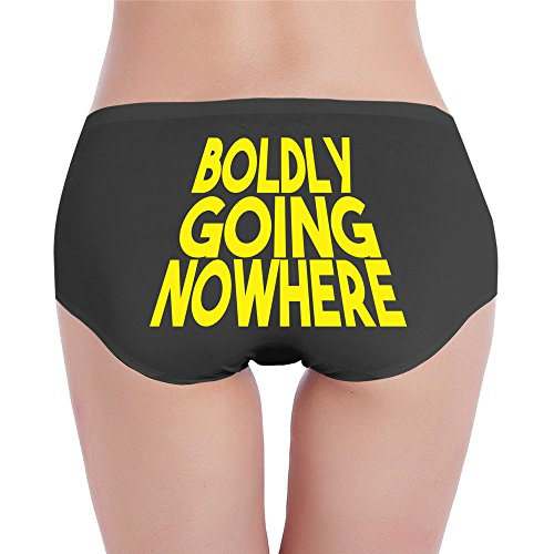 Custom Women's Fashion Low-Waist Sporty Boldly Going Nowhere Hipster Black M (Aaron Lloyd Christmas And Rodgers)