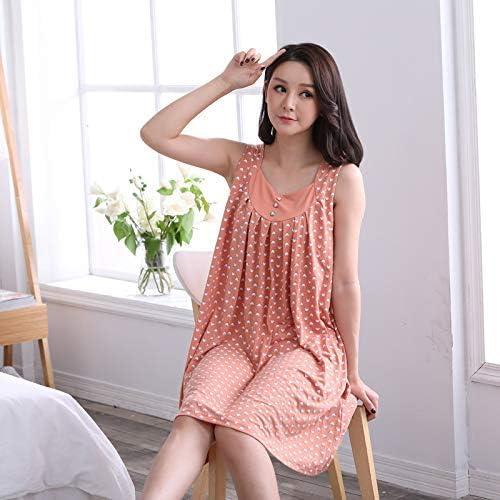 Camisa de dormir Pijamas de verano para damas de mediana edad ...