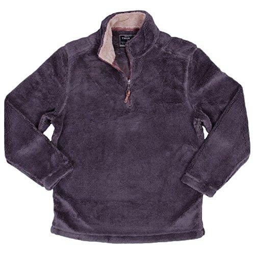 True Grit Men's Pebble Pile 1/4 Zip Pullover, Harley Black, X-Small by True Grit (Image #2)
