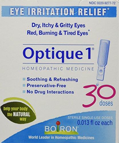 Boiron Optique 1 Eye Drops, 30 Single-use Doses, Homeopathic Medicine for Eye Irritation