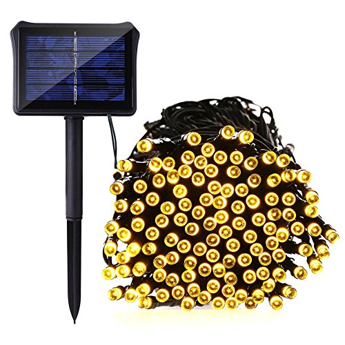 Icicle Solar String Lights Dual Battery Powered 72 Ft 8 Import It All
