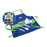 'Cooking with Cookbook' and 11-piece Blue Chef's Kit Bundle