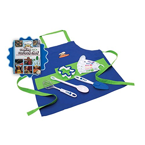'Cooking with Cookbook' and 11-piece Blue Chef's Kit Bundle by Generic