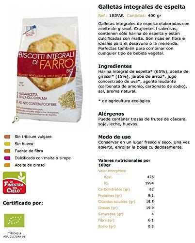 La Finestra Sul Cielo, Galleta de avena - 2 de 400 gr. (Total 800 gr.): Amazon.es: Alimentación y bebidas