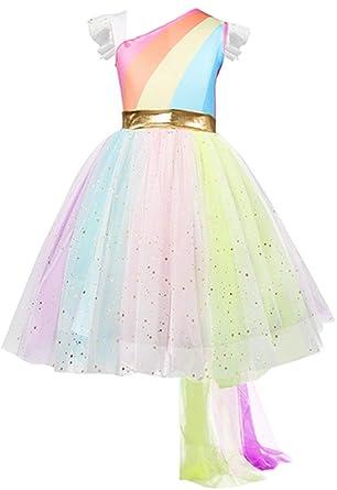 Festliches Mädchen Kleid Pinzessin Kostüm Lange Hochzeit Brautjungfern Kleider