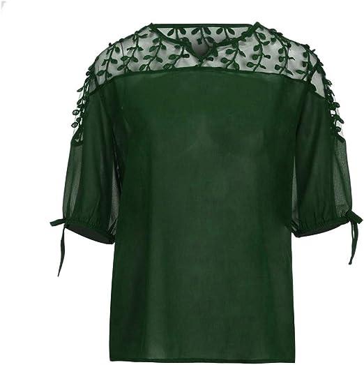 Costura Color de ContrasteTops Ronamick Hermoso Camisetas ...