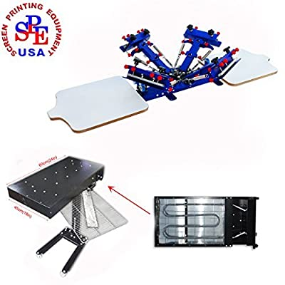 4-2 Micro-registration Screen Printing Machine Screen Printing Press with 1800W 18X 24Inch Flash Dryer