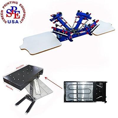 4-2 Micro-registration Screen Printing Machine Screen Printing Press with 1800W 18X 24Inch Flash Dryer