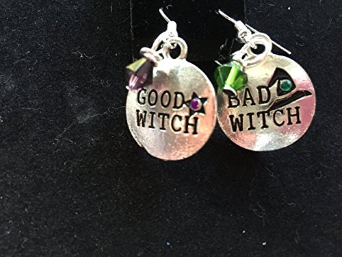 halloween good witch bad witch charm dangle silvertone (Halloween Costumes Good Witch)