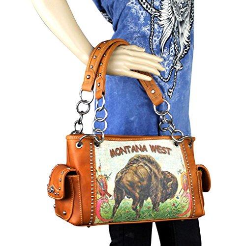 l'épaule à L Image Byzon West Montana femme porter pour Coffee Sac à n0fqCwHY