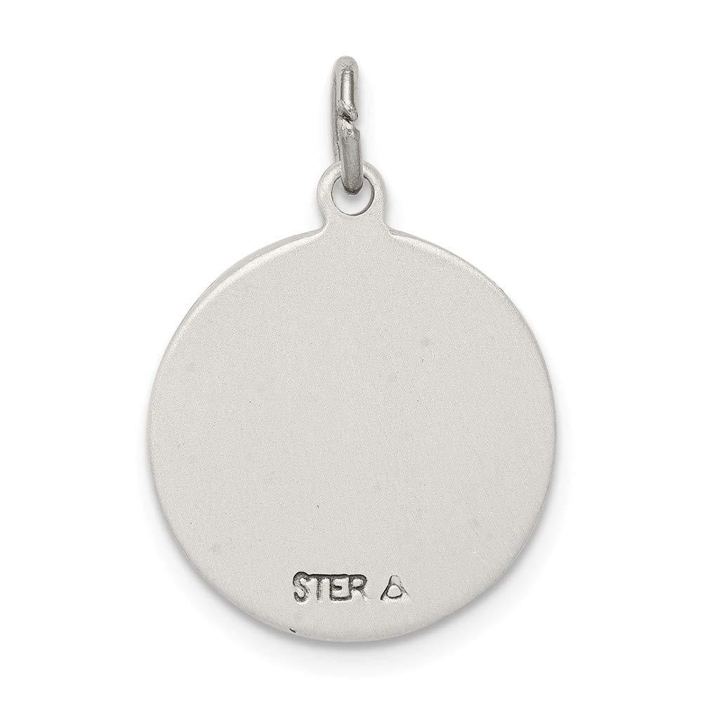 FB Jewels Solid 925 Sterling Silver Antiqued Saint Anne Medal
