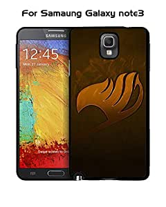Japanese Fairy Tail logo Quotes Pattern For Galaxy Note 3 Funda Case Hard Plastic Back Cover Drop Resistant + Tough Protective Funda Case Compatible With Samsung Galaxy Note 3