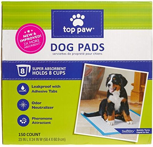 (Top Paw 5277052 Dog Pads, 150 Count)