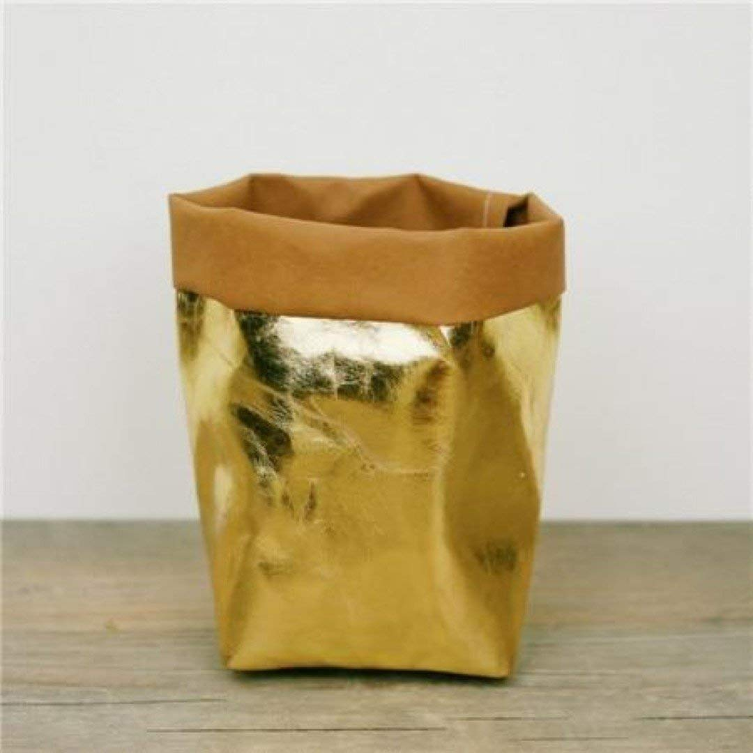 The Stock Pile 815CM Washable Kraft Paper Bag Home Desk Plant Flowers Pot Holder Bags by The Stock Pile (Image #4)