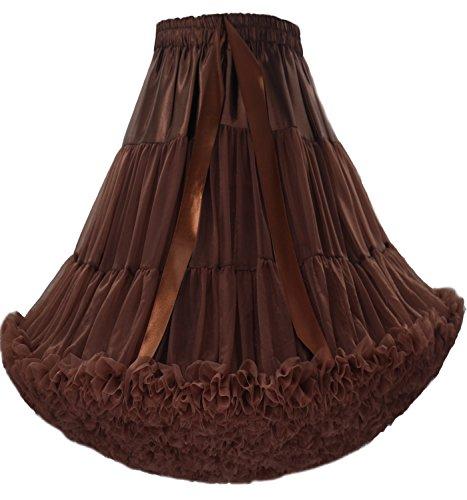Danse Multi couche Petticoat Luxueux FOLOBE Costume Joli Caf Puffy Adulte Ballet Jupe Tutu w60ggA4qx