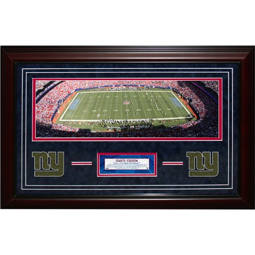 Steiner Sports NFL New York Giants Panoramic 21x32 Turf Collage by Steiner Sports