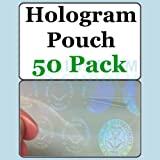 Seal and Key ID Hologram Butterfly Pouches - 50 Pack
