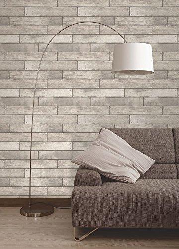 Brewster-FD31287-Modelo-del-papel-pintado-blanco-tabln-de-madera