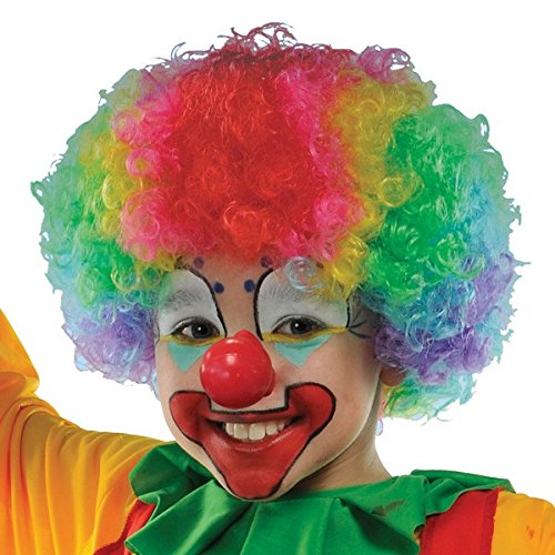 Goofy and Fun Costume Party Clown Wig, Multi Colored, Synthetic Hair, One Size - Child, 1-Piece