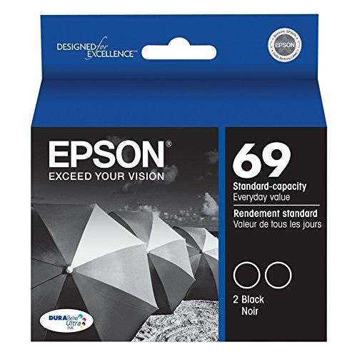 Epson 69 Dual-Pack Print cartridges - 2 x black T069120-D2 (Epson 69 Print Cartridges)