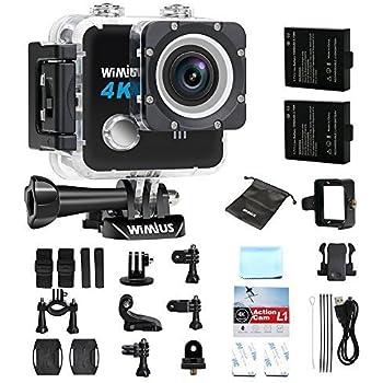 Amazon.com : WIMIUS Q1 4K Action Camera Wifi Ultra HD 16MP ...