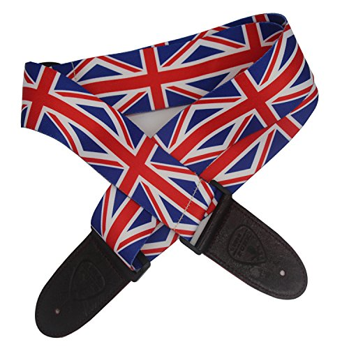 Liujie Guitar Strap - Soft dacron cotton ribbon Wide Adjustment Range and Secure Leather Holes-Suitable for All Ages (1#)