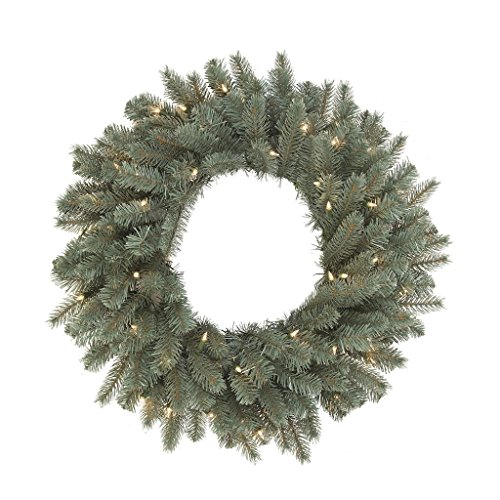- Vickerman A164331 Colorado Spruce Dura-Lit Wreath with Clear Lights - 30 in.