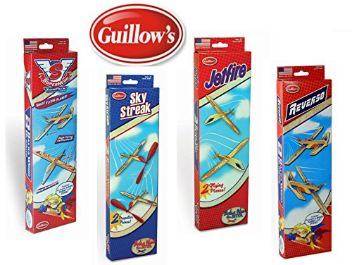 Guillow Balsa Wood Airplane Set - 4 Balsa