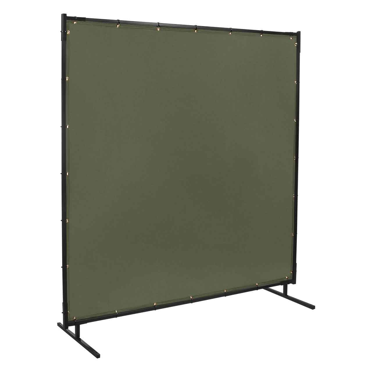 Steiner 501-6X8 Protect-O-Screen Classic Welding Screen with Flame Retardant 12-Ounce Canvas Curtain, Duck Olive Green, 6' x 8' by Steiner
