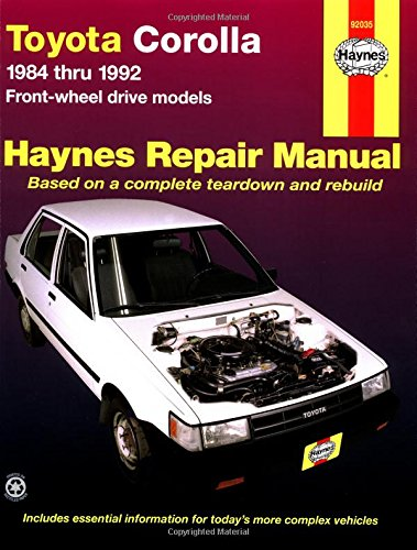 Toyota Corolla 1984 Thru 1992 Front-Wheel Drive Models (Haynes Automotive Repair Manual) Stop Shop Drive