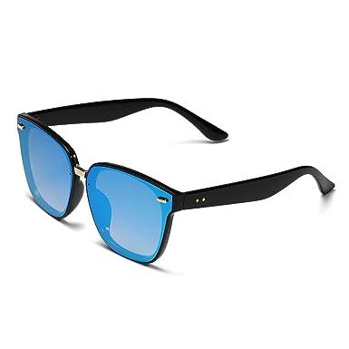 Retro Vintage Sonnenbrille für Unisex Farben, Verspiegelt Herren and Damen, Blau,