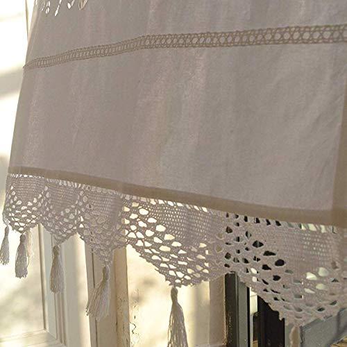 Tenda da cucina ricamata in cotone bianco, tenda da caffè, tenda da ...