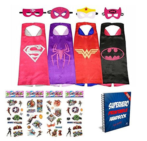 Girl Capes (Vanguard Superhero Girl Cape and Mask set of 4 different styles)