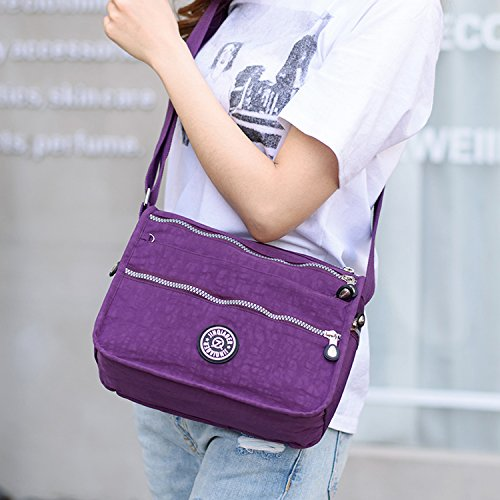 3 Fashion Body Blue for Side Waterproof Tabelt Sport Women Pack Foino Bag Travel Shoulder Bag Messenger Bag Lightweight Casual Cross wHqUyz6xB
