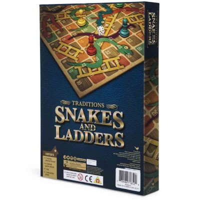 wood snakes and ladders board game includes 1 folding checker board 4 colored game pieces 1 die and instructions