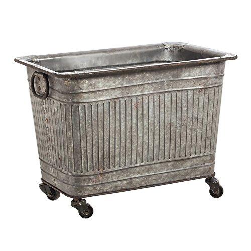Cape Craftsmen Large Galvanized Metal Tub on Wheels]()