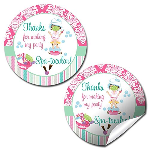 Spa & Pampering Birthday Party Thank You Sticker Labels, 40 2