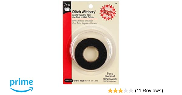 Regular Witchery Dritz 240 5//8-inch By 13-yard Stitch Witchery Black