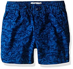 The Children\'s Place Boys\' Pull-On Printed Shorts, Big Blue, 18-24 Months