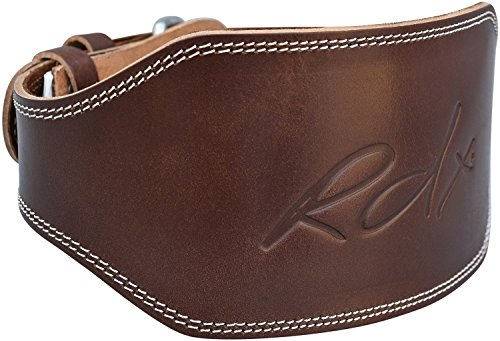 "RDX Weight Lifting Belt 6"" Cow Hide Leather Back Support Strap Gym Power Training"