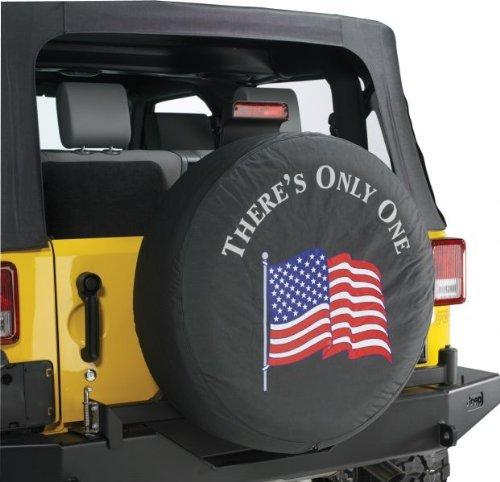 Jeep Wrangler '' AMERICAN FLAG W/ LOGO '' Spare Tire Cover 31 Inch Mopar OEM