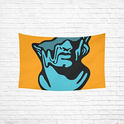WJJSXKA Hallway Wall Decor Creative Modern Classical Sculpture Apollo Tshirt Decorations Wall Psychedelic Indian Wall Decor Hanging Kit Dorm Decor for Living Room Bedroom - Sculpture Apollo Wall