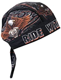 Hot Leathers Ride with Pride Head Wrap (Black)