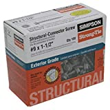 Simpson Structural Screws SD9112R100 No.9 by