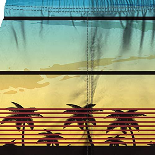 NUWFOR Men Casual 3D Graffiti Printed Beach Work Casual Men Short Trouser Shorts Pants(Multi Color,US:M Waist9.9-33.9'') by NUWFOR (Image #4)